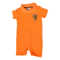 Short leg polo romper